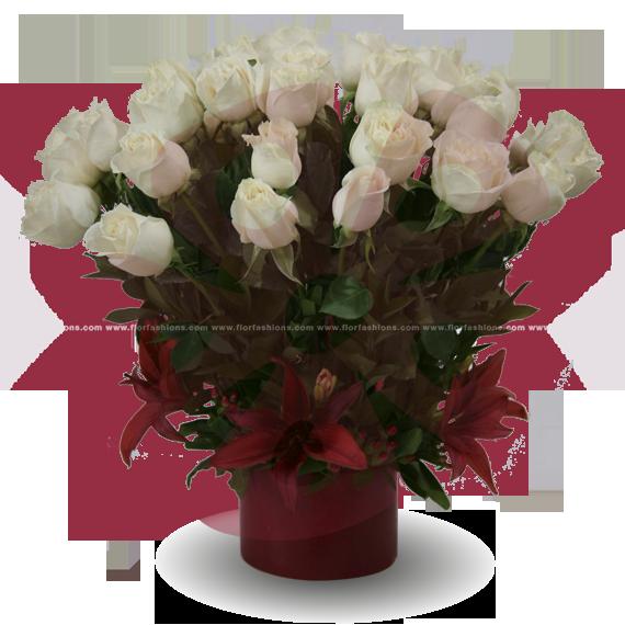 Arreglos florales de rosas y lirios, arreglos de rosas