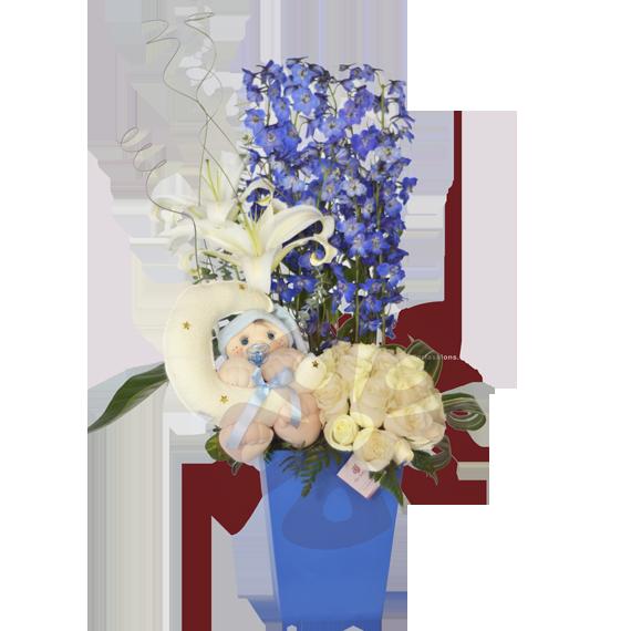 Baby blue - Arreglos florales, Flores a domicilio, Floristeria, Floreria