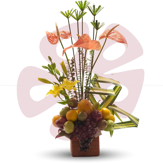 Farah - Arreglos frutales para hombre, arreglos frutales sin chocolate, canastas de frutas, arreglos con flores y frutas